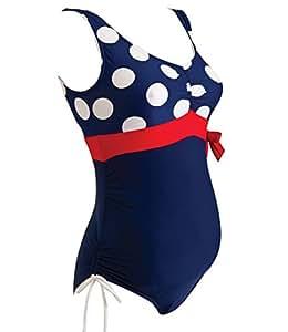 Zoggs Women's Mallacoota Scoop Back Swimsuit - Navy/Red, 32 Inch