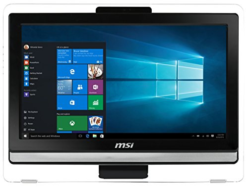 MSI Pro 20ET 4BW-088DE All-in-One Desktop PC mit Multi-Touch Display (Intel Celeron N3160, 4GB RAM, 128GB SSD, HD-Grafik, Windows 10 Home, 49,53 cm, 19,5 Zoll) schwarz AIO