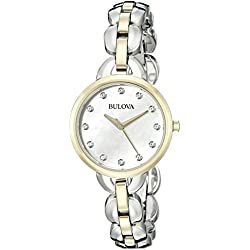 Bulova 98l208analógica Dos Tonos Reloj de Cuarzo japonés de la Mujer