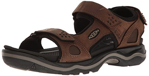 Keen Herren Sandale Rialto 3 Point Braun (dark earth/black)