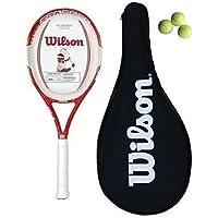 Wilson Federer team 105 Carbon racchetta da tennis + Cover + 3 palle L3 - Slam Racchette