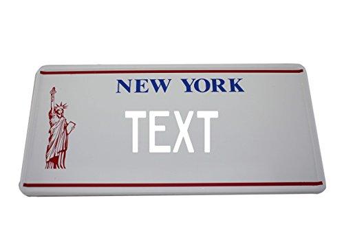 Preisvergleich Produktbild US Auto Kennzeichen STATE LICENSE PLATE Schilder USA New York mit Wunschprägung (weiß)