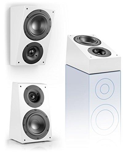 Nubert nuLine RS-54 Dolby Atmos Kompakt-Lautsprecher 2-Wege (15cm Tieftöner,3cm Hochtöner,90/160Watt,117-27000Hz) Stück, Lack Weiß