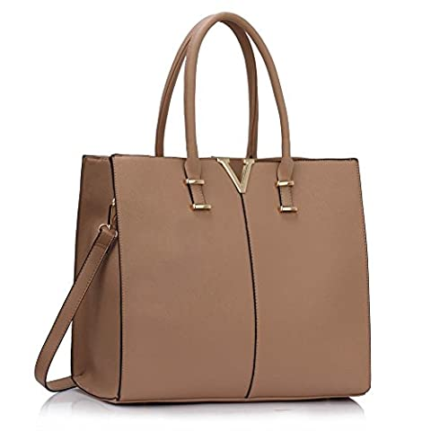 Ladies Large Fashion Designer Celebrity Tote Bags Women's Quality Hot Selling Trendy Handbags CWS00319B CWS00319C (319C Nude