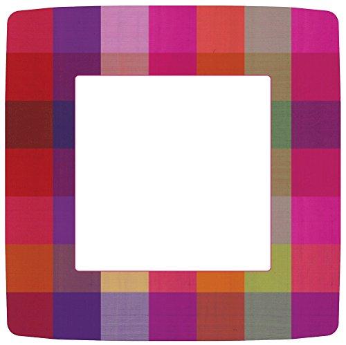 Caspari 12430DP 27 cm, Thai Silk Square Dinner Plates, 8-er Pack Square Dinner Plate