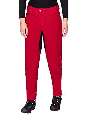 VAUDE Women 's Qimsa Softshell Pants II–Pantalones, otoño/invierno, mujer, color Rojo, tamaño 44 (Hersteller...