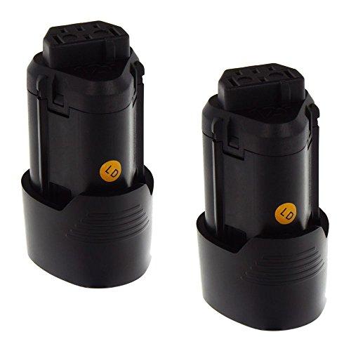 2x MTEC Werkzeugakku 2,0Ah 24Wh 12V für AEG BLL12C BS12C BS12C2 BSS12C BWS12 ersetzt Originalakku Bezeichnung: L1215R L1216