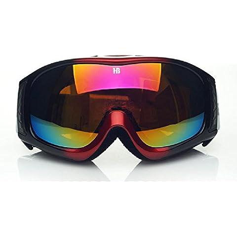 Double anti nebbia UVGoggles Sci & Snowboard occhiali, sostituibile miopia lente,GHTAT#278