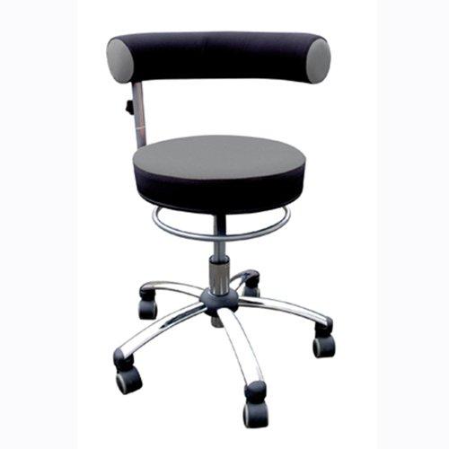 Standard-sitzhöhe (Sanus Gesundheitsstuhl mit höhenverstellbarer Lehne, Sitzhöhe standard (42 - 51 cm), grau/schwarz)