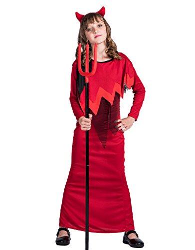 EraSpooky Mädchen klassisches Halloween Teufel-Partei Kostüm (Klassische Halloween Kostüme Für Kleinkinder)
