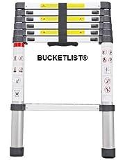 BUCKETLIST® Ultra-Stable Aluminium Ladder Foldable Multi-Purpose Folding Telescopic Ladders 2 Meter
