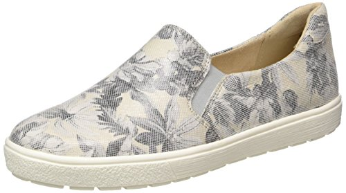 Caprice Damen 24662 Slipper, Grau (LT Grey Multi), 37.5 EU