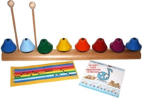 MUSIKID Cloches musicales xylophone : : : jeu et instruHommes t de 8 cloches accordées amovibles. Haute qualité sonore Made in EU B00GYGXJY8 8d37d2
