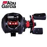 Delicacydex Mulinello da Pesca Abu Garcia Max3-L Baitcasting Water Drop Wheel 6.4: 1 Rapporto Ingranaggi 5KG Bearing Count Fishing Tool - Rosso e Nero