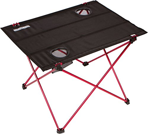 Klapptisch Pläne (Trekology faltbare Camping Picknick Tische–Tragbarer kompakter aufrollbarer Tisch in einer Tasche–klein, leicht, und einfach zu tragen für Camping, Strand, Outdoor, schwarz)