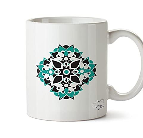 hippowarehouse Mandala Spirituelle Muster 283,5Tasse, keramik, weiß, One Size