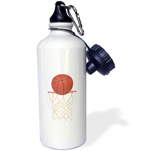 Basketballkorb Netz Sport Wasser Flasche Edelstahl-Flasche für Frauen Herren Kinder 400ml