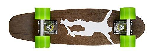 Ridge Erwachsene Maple Holz Mini Cruiser Number One Skateboard, Grün