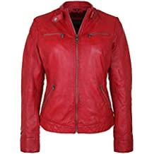 His lederjacke damen rot
