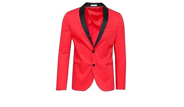 0b636a6042 Evoga Giacca uomo sartoriale rosso elegante formale slim fit 100 ...