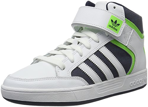 adidas Jungen Varial Mid Skaterschuhe Weiß (Ftwr White/Solar Green/Collegiate Navy)
