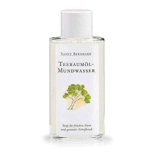 Teebaum Öl Mundwasser (Teebaumöl-Mundwasser mit Teebaumöl, Krauseminzöl, Salbeiöl, Rosmarinöl 100 ml)