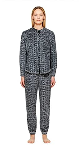 DKNY Damen Schlafanzug Gr. XS, BLACK TEXTURE GEO (Dkny Lingerie)