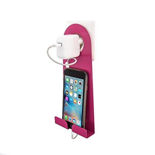 Preisvergleich Produktbild Handy- Halterung für die Steckdose Unsiversal Pink Handyhalterung