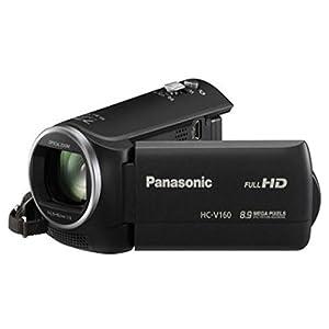 Panasonic HC-V160 Video Camera (Black) with 16GB Memory Card and Camera Bag