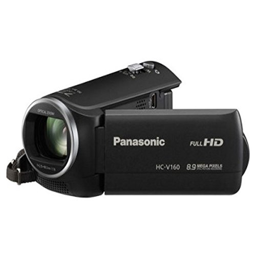 Panasonic HC-V160 Video Camera (Black) With 16GB Memory Card and Camera Bag