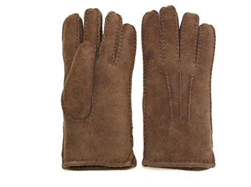 Lammfell Handschuhe aus Australischen Lammfell Farbe Braun mit braunen Fell, Damen Lammfell Finger Handschuhe, Größenbeschreibung siehe (Handschuhe Braune)