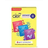 Godrej aer Pocket, Bathroom Air Fragrance - Assorted Pack of 3 (3x10g)