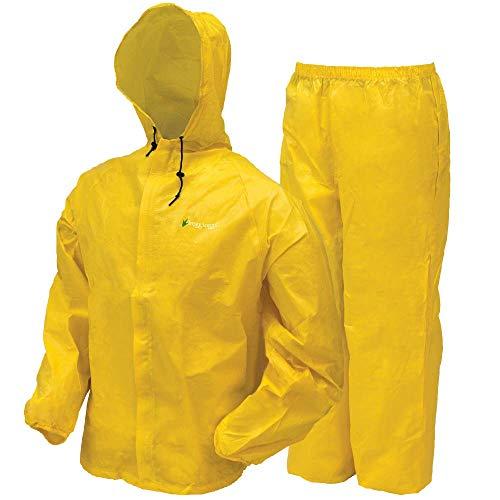 Frogg Togg Ultra-Lite2 Regenanzug, wasserabweisend, atmungsaktiv, für Herren, Damen und Jugendstile erhältlich, Herren, Stormwatch Jacket, hellgelb, XX-Large (Free Stuff Kinder)