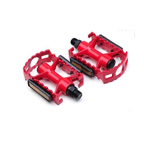 YLDLX Fahrradpedal, Fahrradpedal für Mountainbike-Straßenfahrräder Pure Metal Texture (Color : Red)