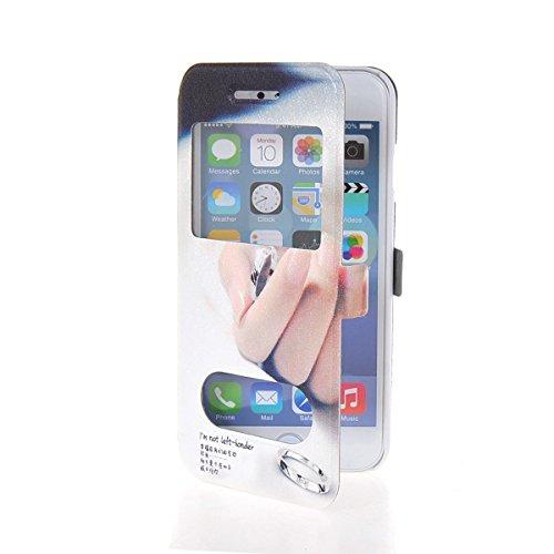 MOONCASE Coque en Cuir Housse de Protection Étui à rabat Case pour Apple iPhone 6 Plus A18153