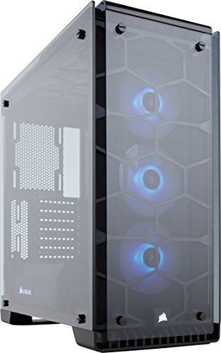 Corsair Crystal 570X Case da Gaming, Mid-Tower ATX, Finestra Laterale Vetro Temperato e Ventole, RGB LED, Nero