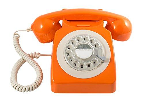 GPO 746ROTARYORA Klassisches Telefon im 70er Jahre Design Orange