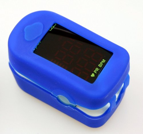 Pulsfrequenz Blutdruck (Oximeter Messgerät zum Ermitteln der Sauerstoffsättigung im Blut und der Pulsfrequenz)