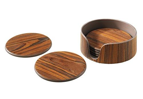 Kobolo Dekorative Untersetzer aus Holz im 6er Set inkl. - Wein-glas-vitrine