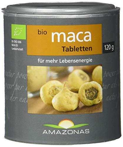 Amazonas Naturprodukte Bio Maca Tabletten, Naturrein In Rohkostqualität, 300 Stück