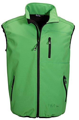 Fifty Five Herren Softshell-Outdoor-Funktions-Sport-Weste - Sheerbroke grün 2XL - Windbre