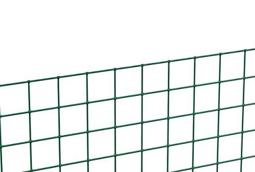 GAH-Alberts 614539 Schweißgitter, grün, 1000 mm Höhe,5 m Rolle, 19,0 x 19,0 mm Maschenweite