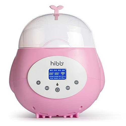 QYY Automatische intelligente Babyflaschenwärmer, Touchscreen 5 Meter Fernbedienung Milchwärmer, Multifunktions-zeitgesteuerte Reservierung Isolierung Thermostat Flaschensterilisator,Pink -
