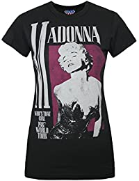 Junk Food Madonna Who s That Girl  Women s T-Shirt Black c80e49fb8