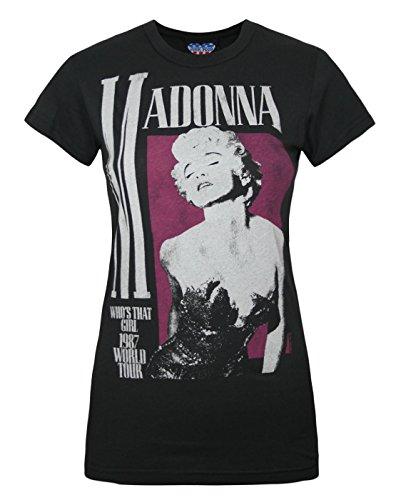 Damen - Junk Food Clothing - Madonna - T-Shirt (S) (T-shirt Tee Madonna)