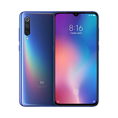 "Xiaomi MI 9 Smartphone, 64 GB, display AMOLED 6.39"", 2280x1080, Snapdragon 855 Octa-core, 6 GB RAM, Tripla Fotocamera 48+16+12 MP, Blu [Versione italiana]"