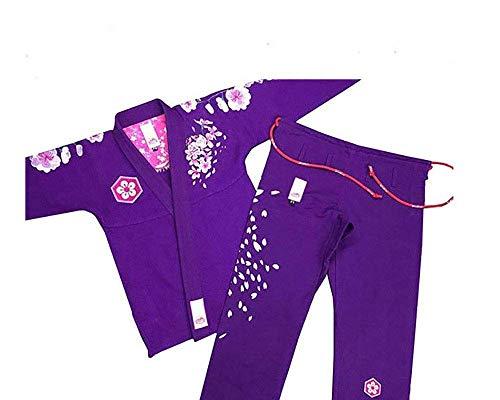 men Brasilianischer Jiu Jitsu Anzug, weiblich BJJ Gi Kimonos Frauen BJJ Uniform, Herren, violett, A2 ()