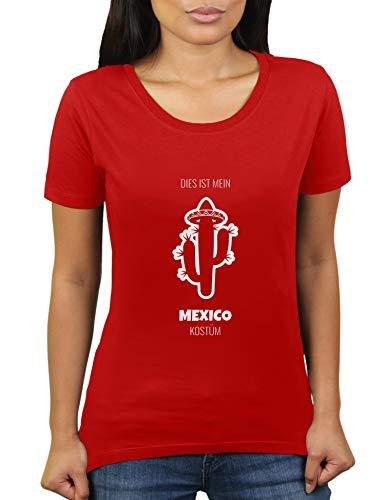 Dies ist Mein Mexico Kostüm - Faschingskostüm Karnevalskostüm - Damen T-Shirt von KaterLikoli, Gr. M, (Keine Kostüm Meme)