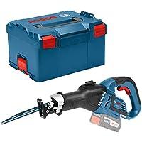 Bosch Professional 06016A8104 GSA 18 V-32 Akku-Säbelsäge ohne Akku und Ladegerät, 2x Säbelsägeblatt, L-Boxx, 18 V