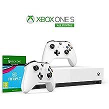 Xbox One S 1 TB - All Digital Edition Console + Controller Wireless Bianco + Fifa 19